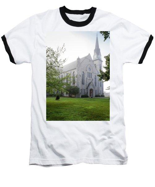 Stone Chapel In Fog Baseball T-Shirt