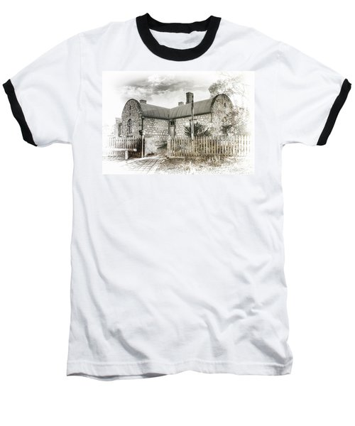 Baseball T-Shirt featuring the photograph Stone Cottage by Wayne Sherriff