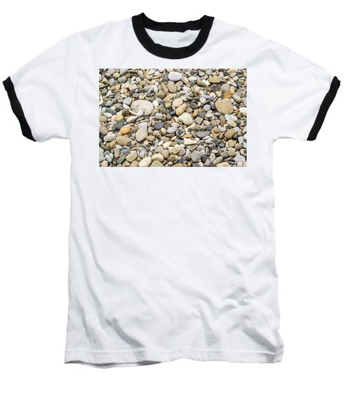 Baseball T-Shirt featuring the photograph Stone Pebbles Patterns by John Williams