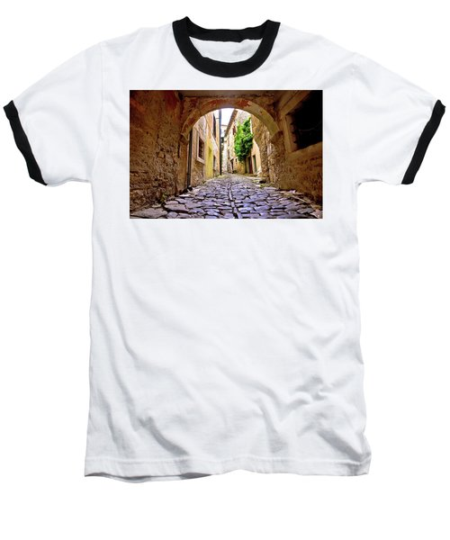 Stone Town Of Groznjan Old Street  Baseball T-Shirt by Brch Photography