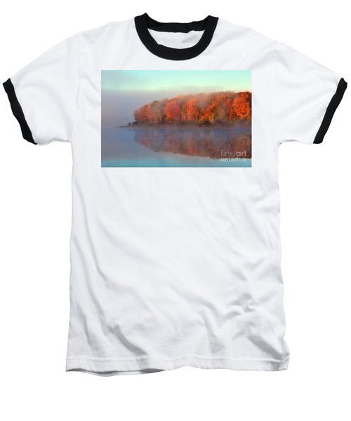 Stoneledge Lake Pristine Beauty In The Fog Baseball T-Shirt