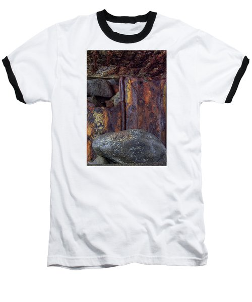 Baseball T-Shirt featuring the photograph Rusted Stones 2 by Steve Siri