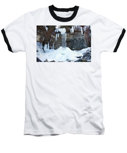 Stony Kill Falls In February #2 Baseball T-Shirt by Jeff Severson