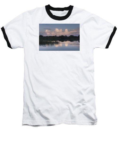 Storm At Sunrise Over The Wetlands Baseball T-Shirt