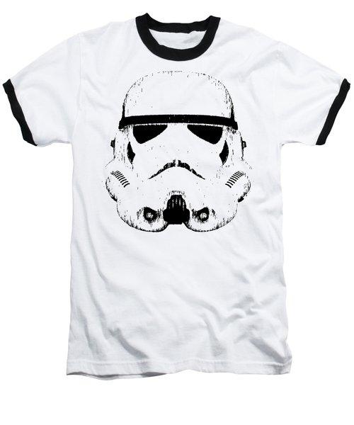 Stormtrooper Helmet Star Wars Tee Black Ink Baseball T-Shirt