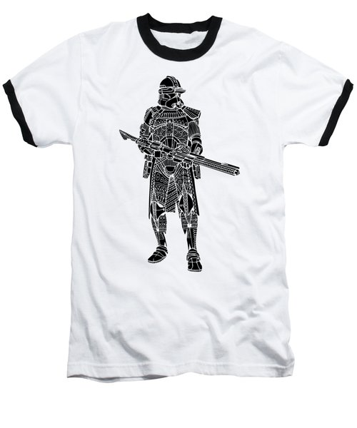 Stormtrooper Samurai - Star Wars Art - Black Baseball T-Shirt