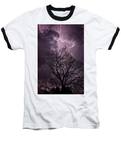 Stormy Night Baseball T-Shirt