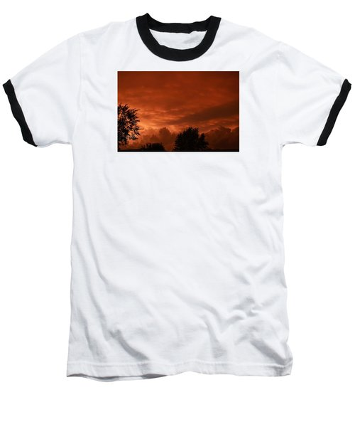 Baseball T-Shirt featuring the photograph Stormy Sunset by Nikki McInnes