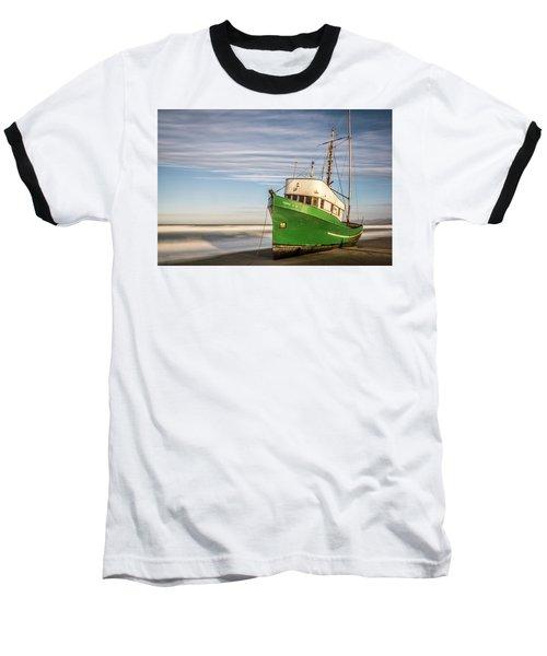 Stranded On The Beach Baseball T-Shirt by Jon Glaser