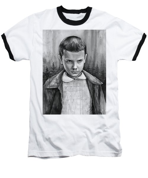 Stranger Things Fan Art Eleven Baseball T-Shirt