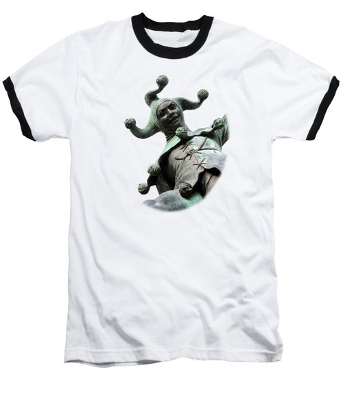Stratford's Jester Statue On Transparent Background Baseball T-Shirt by Terri Waters