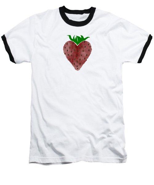 Strawberries Baseball T-Shirt by Kathleen Sartoris