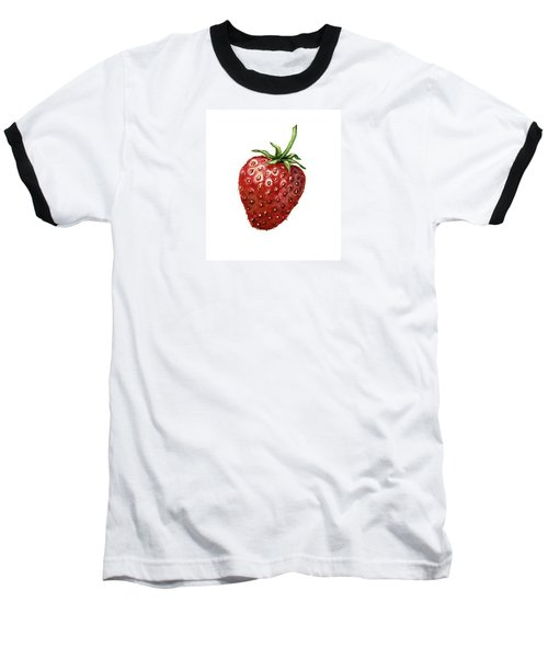 Baseball T-Shirt featuring the painting Strawberry by Heidi Kriel
