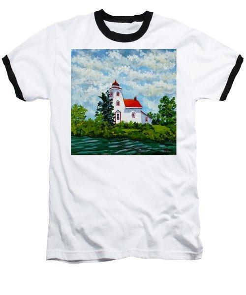 Strawberry Island Lighthouse, Manitoulin Island Baseball T-Shirt