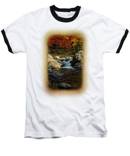 Stream In Autumn No.17 Baseball T-Shirt by Mark Myhaver