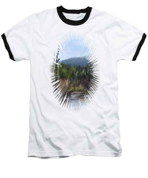 Baseball T-Shirt featuring the painting Stream by Ivana Westin
