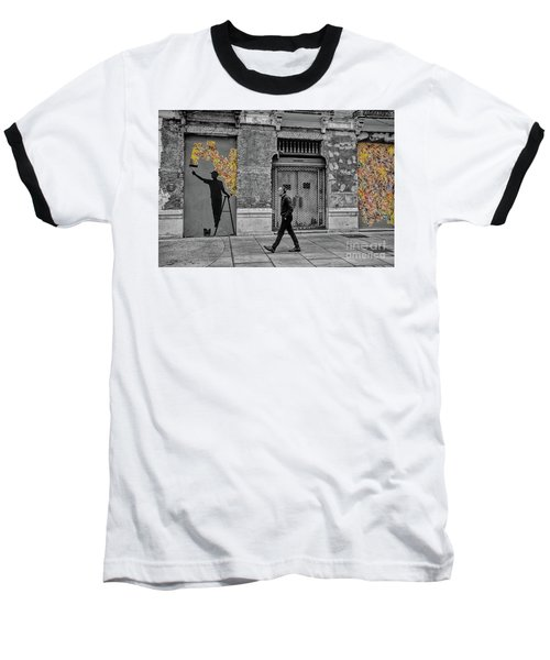Baseball T-Shirt featuring the photograph Street Art In Malaga Spain by Henry Kowalski