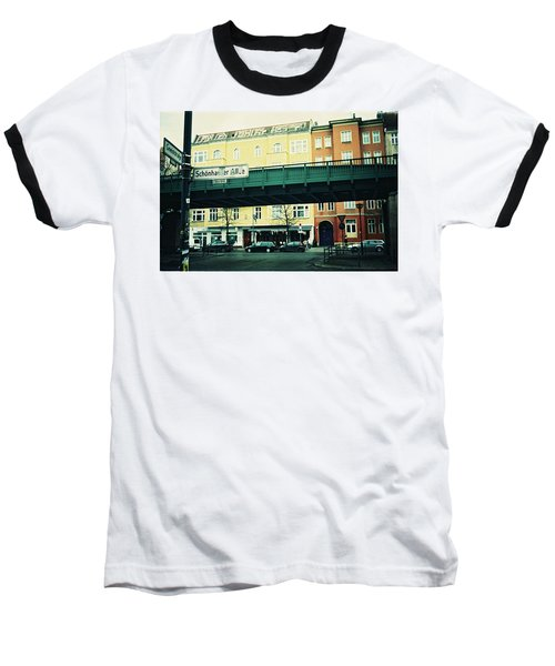 Street Cross With Elevated Railway Baseball T-Shirt