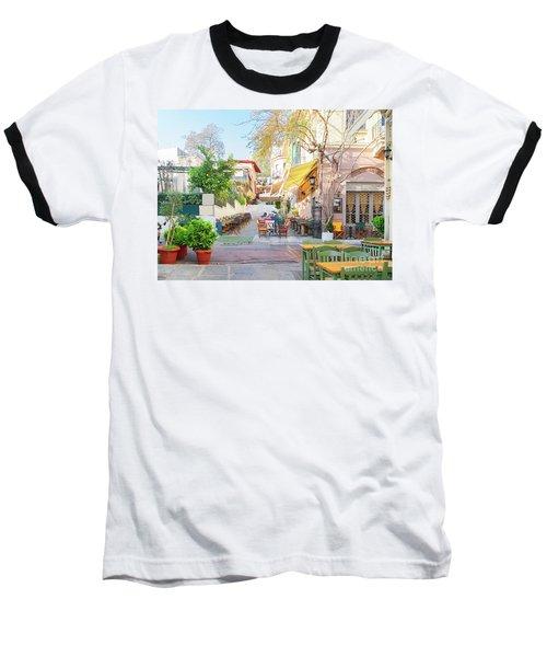 Street Of Athens, Greece Baseball T-Shirt