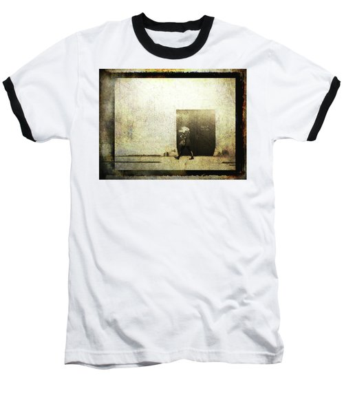 Street Photography - Closed Door Baseball T-Shirt by Siegfried Ferlin