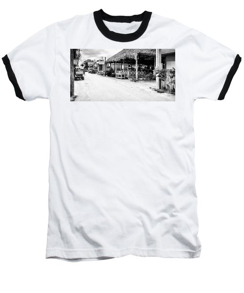 Street Scene On Caye Caulker Baseball T-Shirt by Lawrence Burry