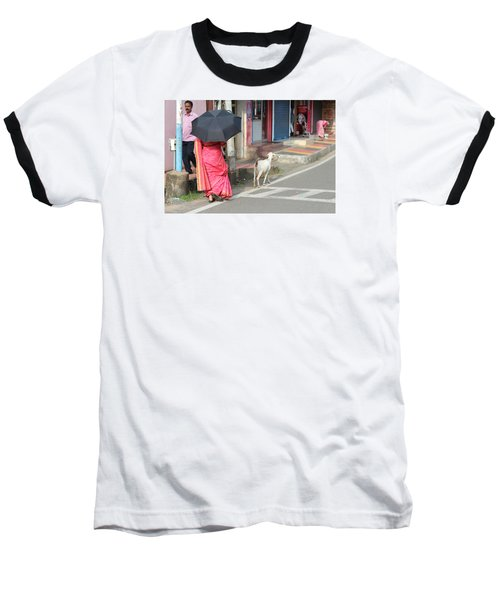 Streets Of Kochi Baseball T-Shirt by Jennifer Mazzucco