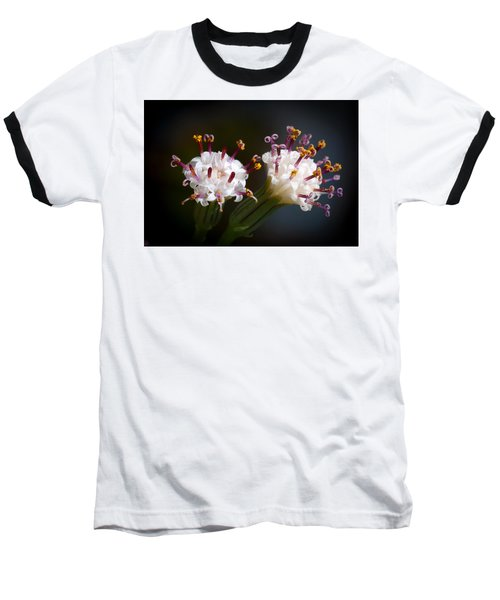 Baseball T-Shirt featuring the photograph String Of Pearl Succulent Flowers by Catherine Lau