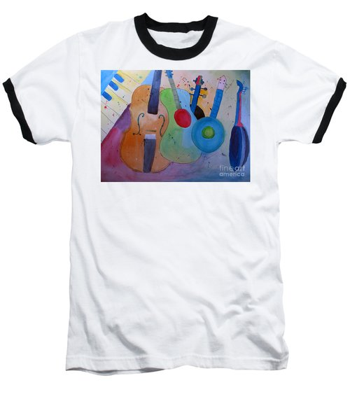 Baseball T-Shirt featuring the painting Strings by Sandy McIntire