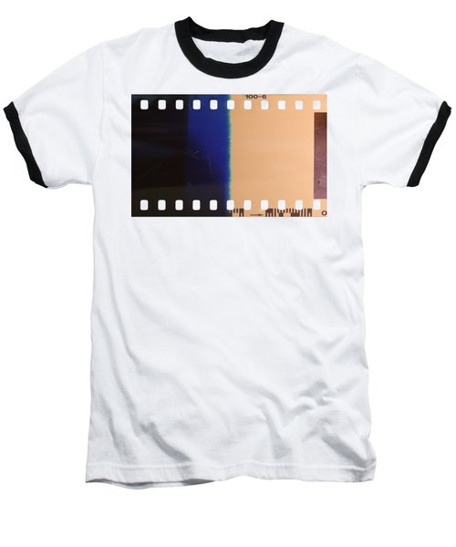Baseball T-Shirt featuring the photograph Strip Of The Poorly Exposed And Developed Celluloid Film by Michal Boubin