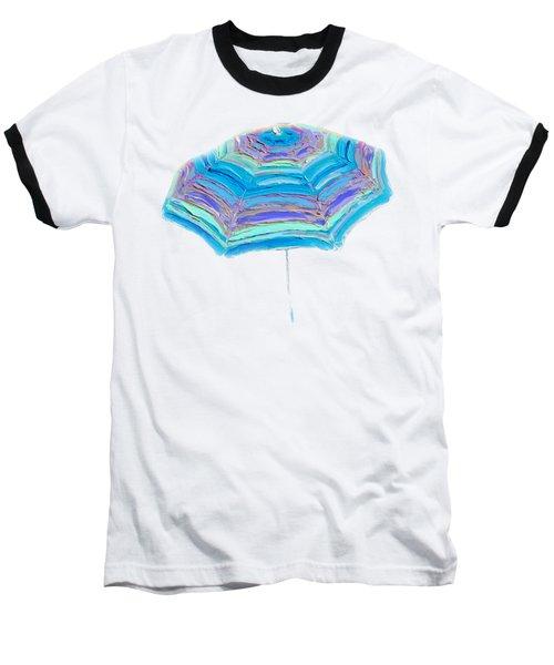 Striped Umbrella Baseball T-Shirt by Jan Matson