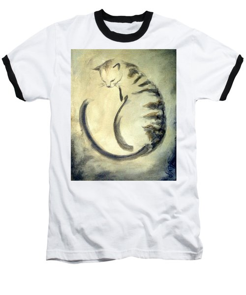 Stripey Cat 1  Baseball T-Shirt
