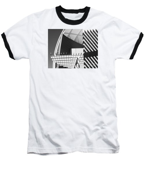 Structure Abstract 3 Baseball T-Shirt by Cheryl Del Toro
