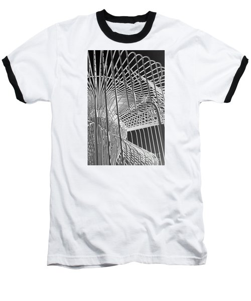 Structure Abstract 4 Baseball T-Shirt by Cheryl Del Toro