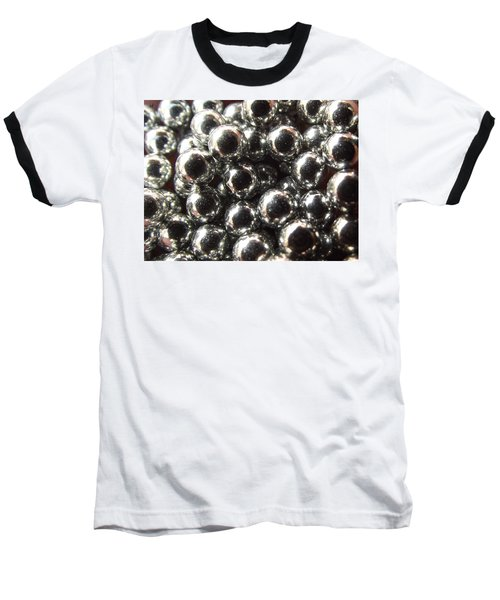 Baseball T-Shirt featuring the photograph Study Of Bb's, An Abstract. by Shelli Fitzpatrick