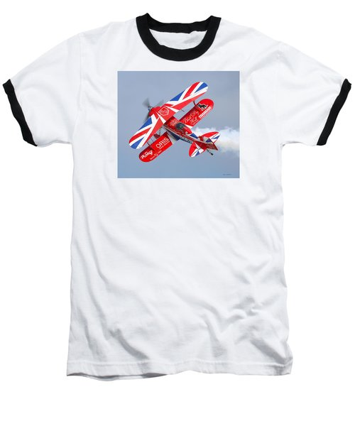 Stunt Plane Baseball T-Shirt by Roy  McPeak