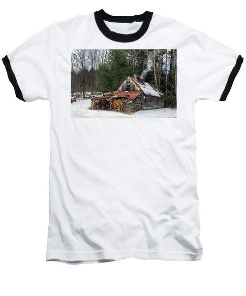 Sugar King's Smokehouse Baseball T-Shirt by Betty Denise