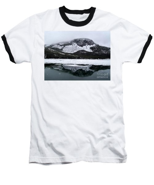 Sugarloaf Hill Reflections In Winter Baseball T-Shirt by Barbara Griffin