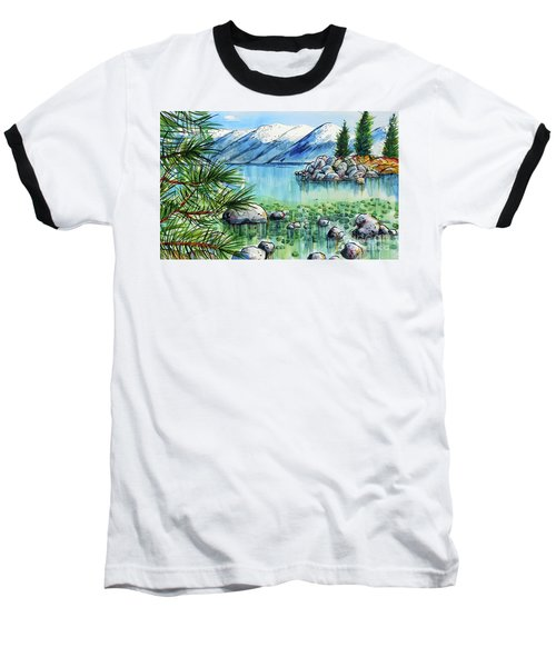 Baseball T-Shirt featuring the painting Summer At Lake Tahoe by Terry Banderas
