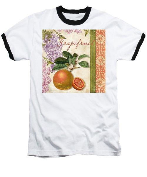 Summer Citrus Grapefruit Baseball T-Shirt by Mindy Sommers