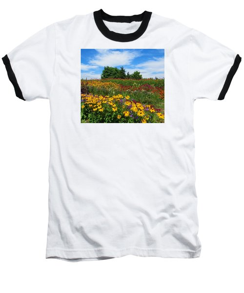 Baseball T-Shirt featuring the photograph Summer Flowers In Pa by Jeanette Oberholtzer