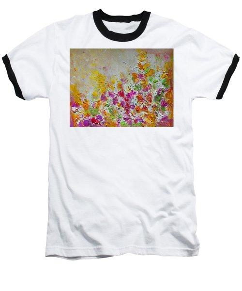 Summer Fragrance Abstract Painting Baseball T-Shirt