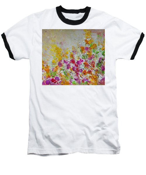 Summer Fragrance Abstract Painting Baseball T-Shirt