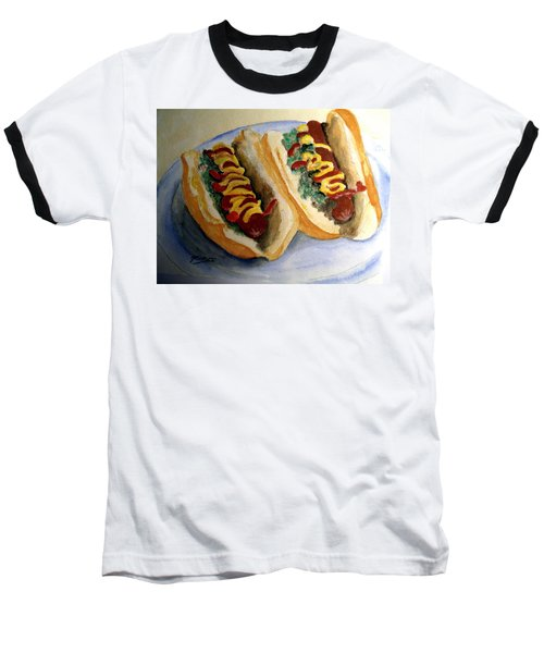 Summer Hot Dogs Baseball T-Shirt