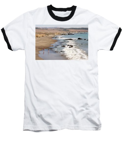 Baseball T-Shirt featuring the photograph Summer In San Simeon by Art Block Collections