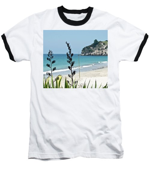 Baseball T-Shirt featuring the photograph Summer New Zealand Beach by Yurix Sardinelly