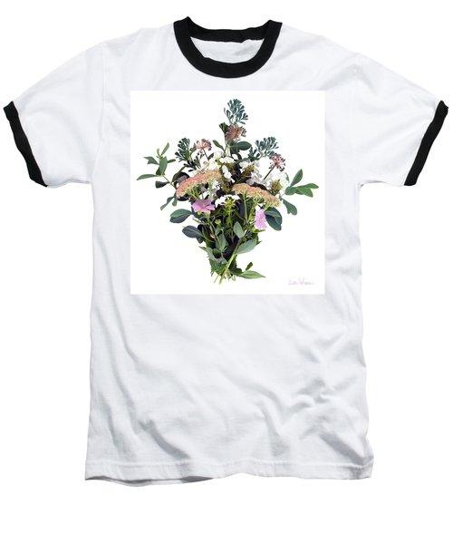 Summer Perrenials Baseball T-Shirt by Lise Winne