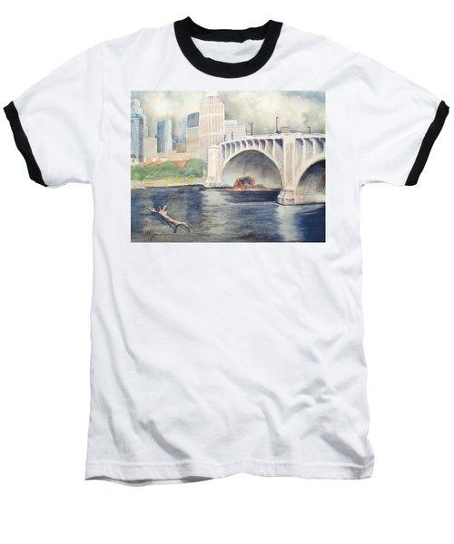 Summer Rain Baseball T-Shirt by Marilyn Jacobson