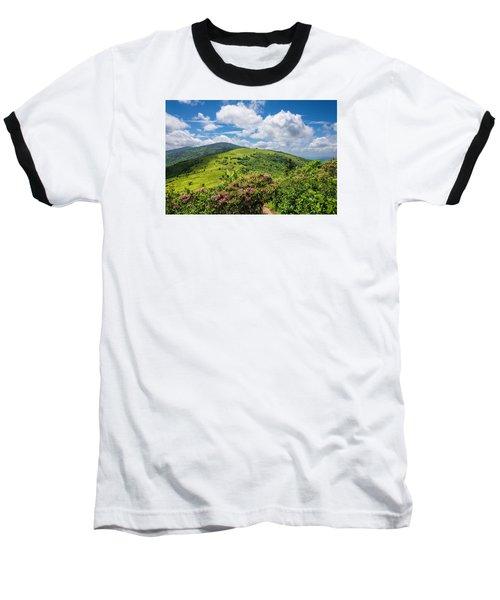 Summer Roan Mountain Bloom Baseball T-Shirt