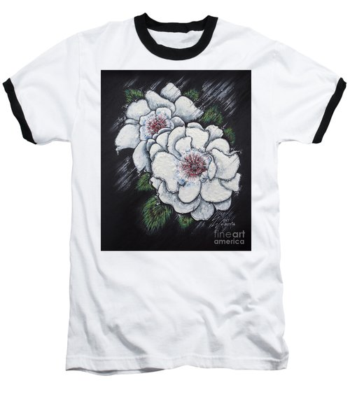 Summer Roses Baseball T-Shirt by Scott and Dixie Wiley
