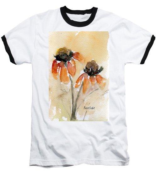 Summer Sunflowers Baseball T-Shirt by Anne Duke